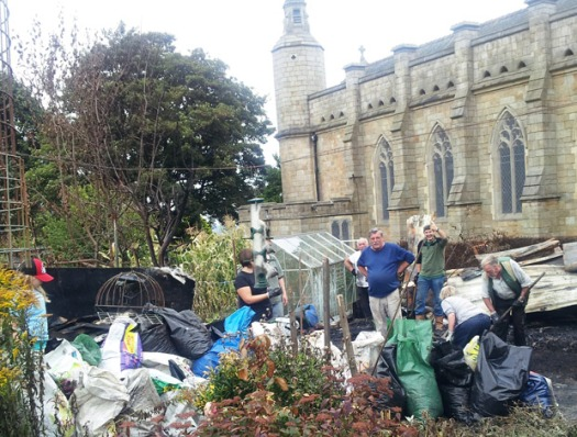 Marsh Lane allotment volunteers
