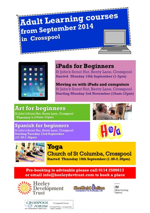 Adult Learning courses in Crosspool