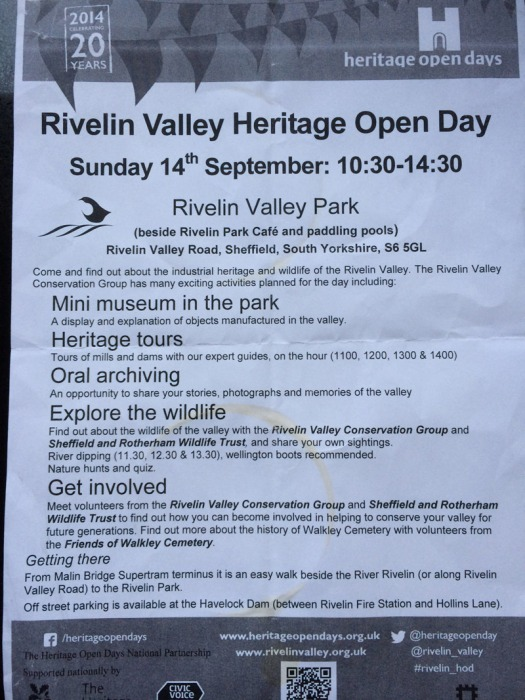 Rivelin Valley Heritage day