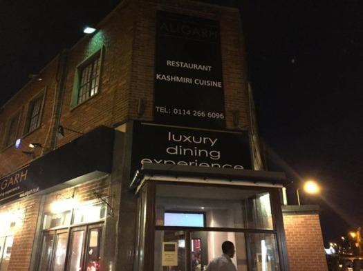 Aligarh Indian restaurant in Crosspool