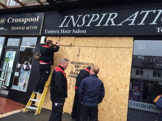 Crosspool salon Inspiration was ram-raided on Monday night