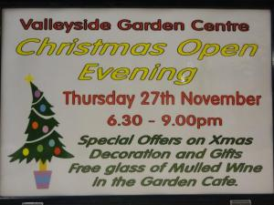 Valleyside Christmas open evening
