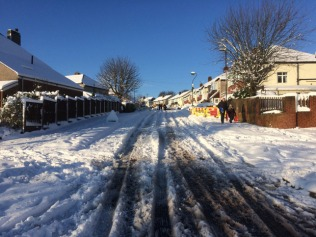 Cardoness Road in the Boxing day snow, 2014