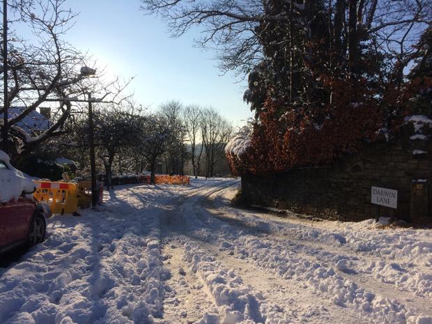 Darwin Lane in the Boxing day snow, 2014