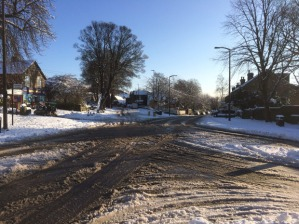 Manchester Road in the Boxing day snow, 2014