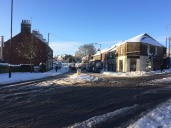 Crosspool shops in the Boxing day snow, 2014