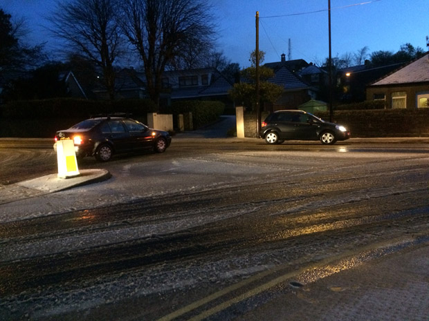 Snow caused problems in Crosspool on Thursday morning