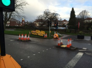 Traffic lights have been removed on Manchester Road