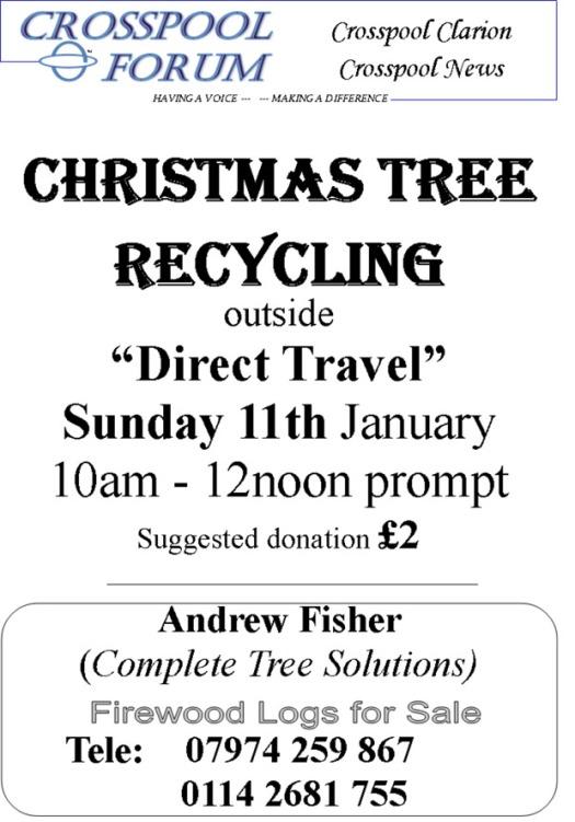 January 2015 Chrstmas tree recycling