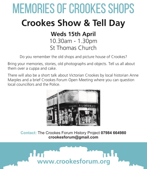 Crookes Forum history eventCrookes Forum history event