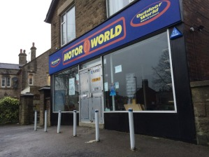 The former Motor World shop unit is for sale/to let