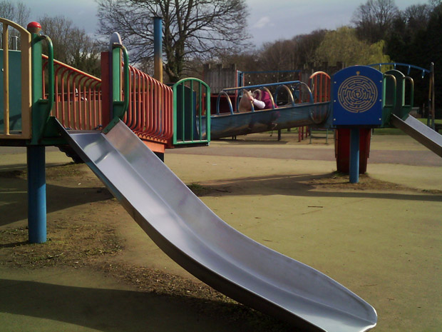 Photo 3 - playground slide. Vote for this at the bottom of the page