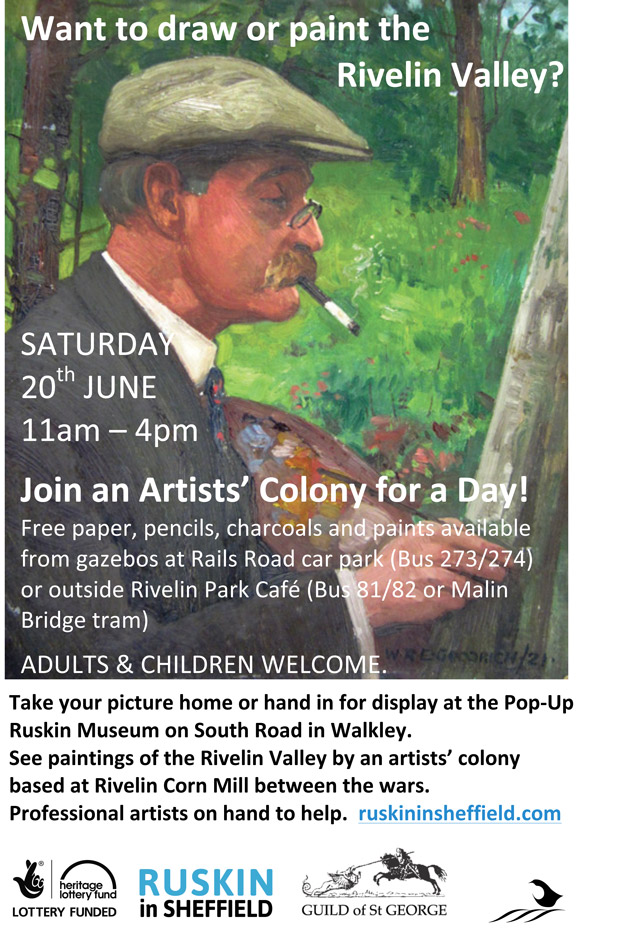 Saturday 20th June - Drawing and painting in the Rivelin Valley - Ruskin in Sheffield
