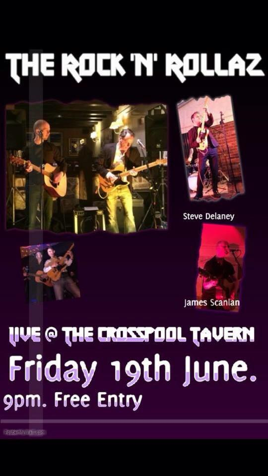 Rock'n'rollaz live music at Crosspool Tavern on Friday