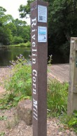 New information posts in the Rivelin valley