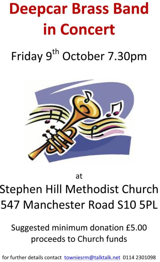 Deepcar Brass Band in concert in Crosspool
