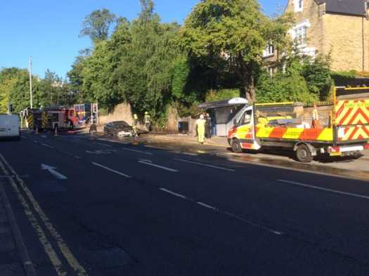 Broomhill car fire causes delays