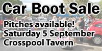 Car boot sale 5 September