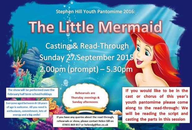 Take part in the 2016 Stephen Hill Youth pantomime