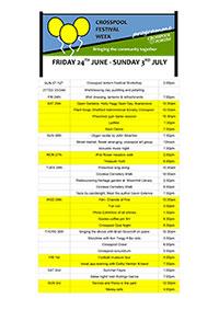 Crosspool Festival 2016 programme