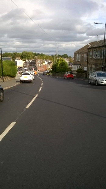 White lines on Sandygate Road