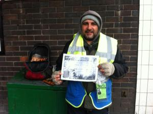 Mohammed selling Big Issue in the North outside Crosspool Spar