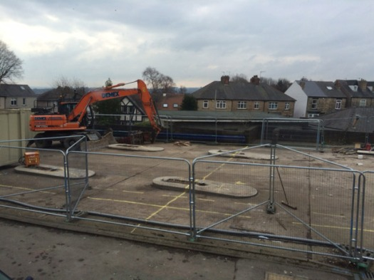 Construction begins on the Manchester Road Tesco Express