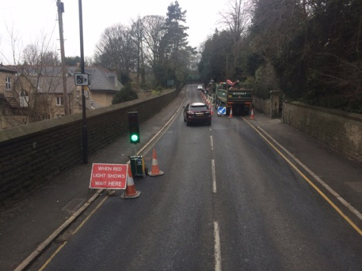 Manchester Road temporary lights expected to be there until Thursday 18 February