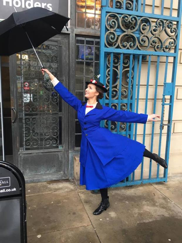 Playing Mary Poppins is Alicia Smith who was born and bred in Crosspool