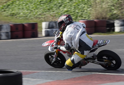 2. Alex Latham, 13 year old Junior racer from Crosspool, competing in the Super Moto 140 race