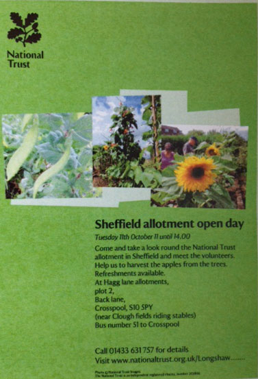 National Trust Back Lane community allotment open day