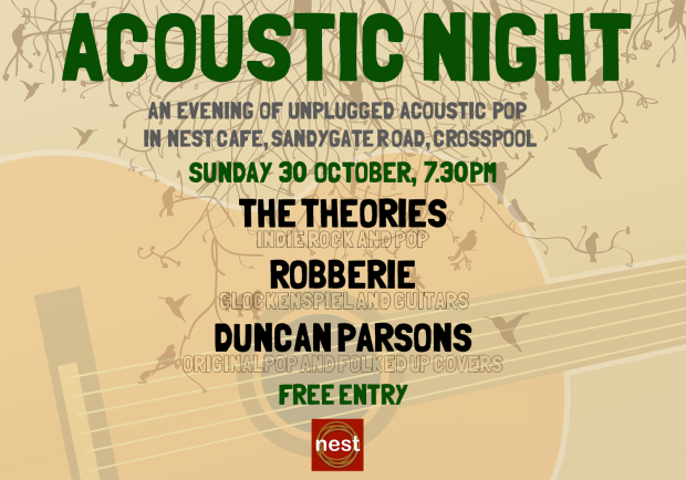 Acoustic night 3 at nest: The Theories, Robberie and Duncan Parsons