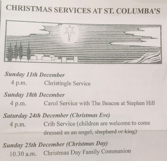 Christmas 2016 church services in Crosspool
