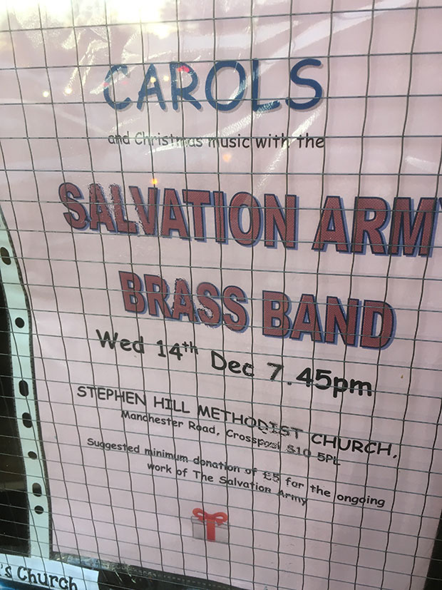 Salvation Army Brass Band Christmas concert in Crosspool