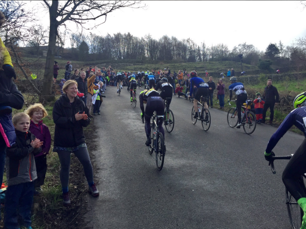 The crowd on Hagg Hill