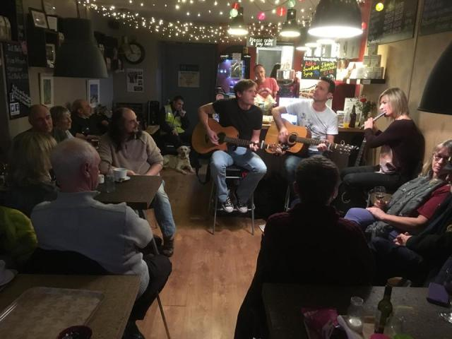 Acoustic night at Nest cafe, Crosspool