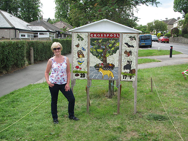 Well dressing organiser Sherryl Butcher