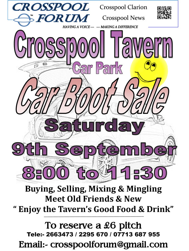 Crosspool car boot sale September 2017