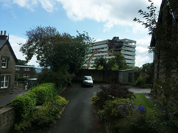 Hallam Tower hotel: demolition begins