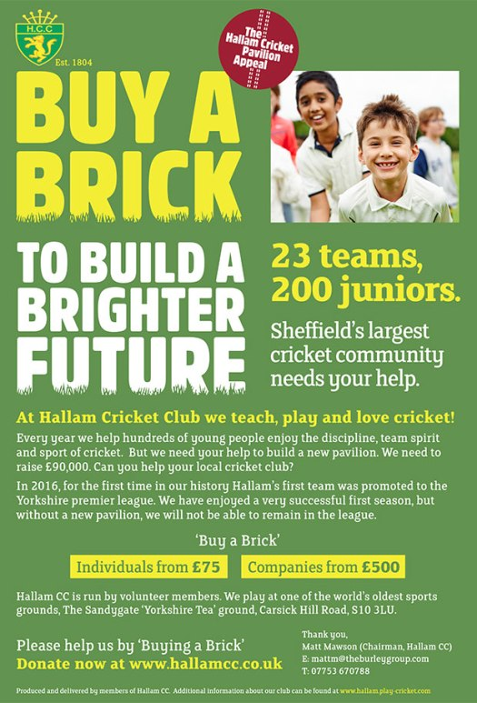 Hallam Cricket Club needs your help