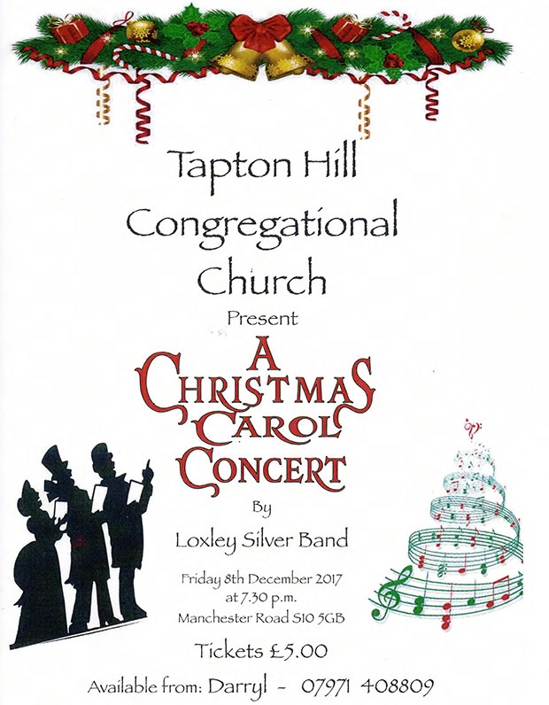Christmas carol concert at Tapton Hill Congregational Church