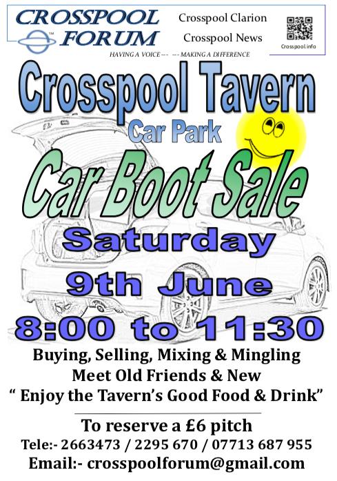Crosspool Tavern car boot sale on 9 June 2018