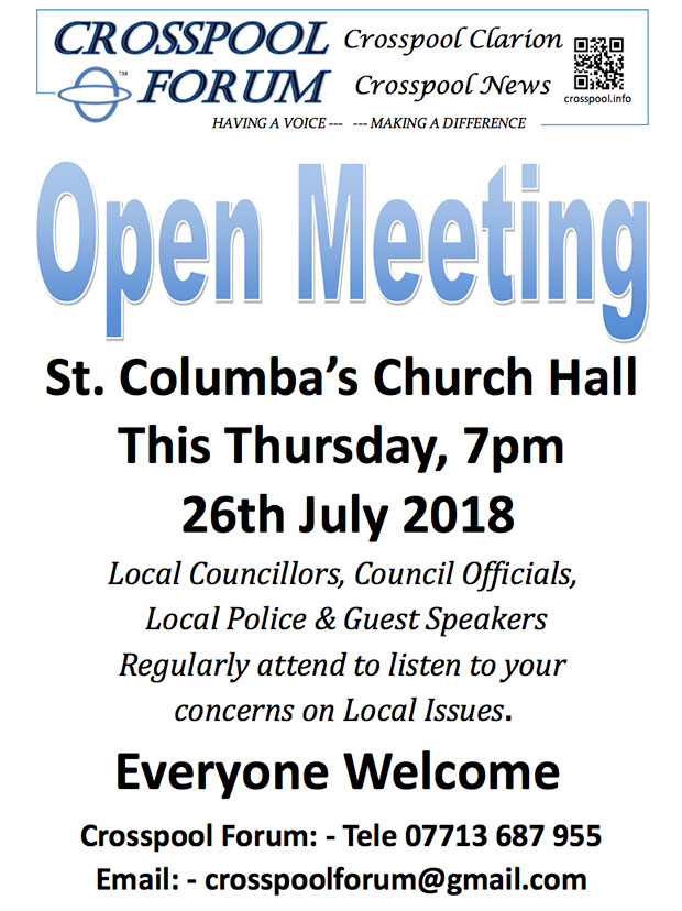 Open Meeting on Thursday 27 July 2018