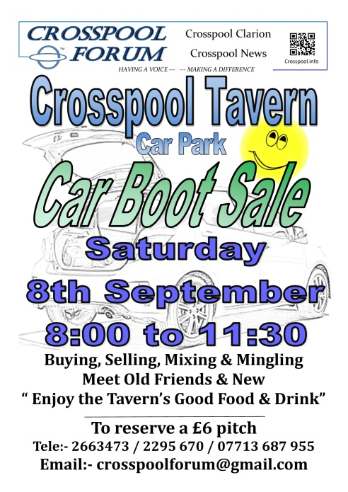 Car Boot Sale Sept 2018
