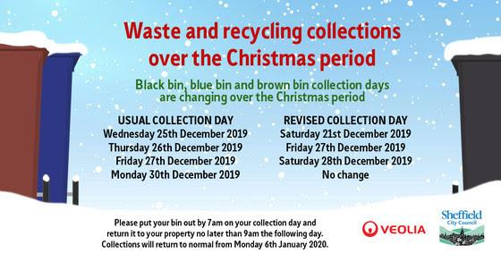 Christmas bin collections