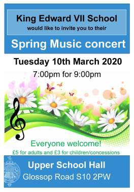 spring concert poster March 2020